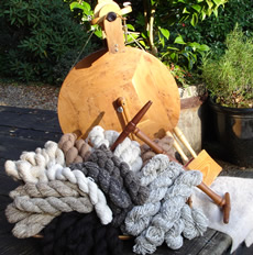 Spinning Wheel - Loch Sunart Yarns and Buttons Ardnamurchan