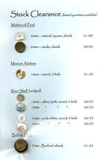 Stock clearance buttons